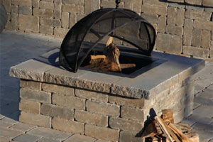 Olde English Square Firepit Sahara/Chestnut