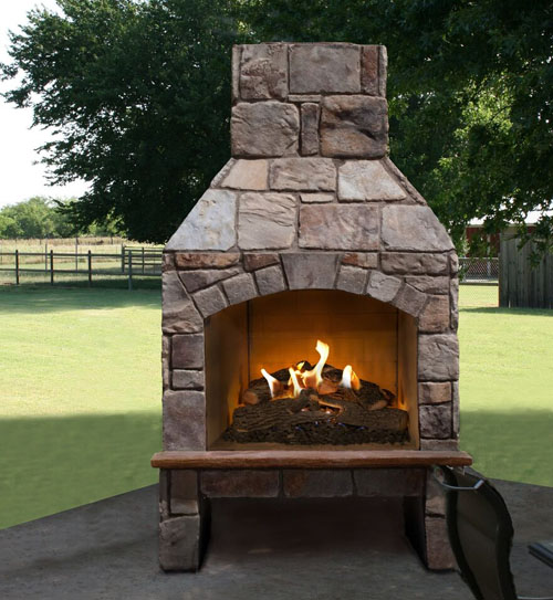Stoneage Outdoor Fireplace