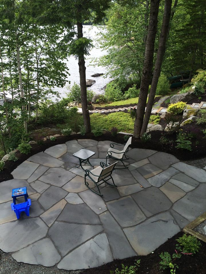 Granville Stone Hearth Flagstone Patio Maine