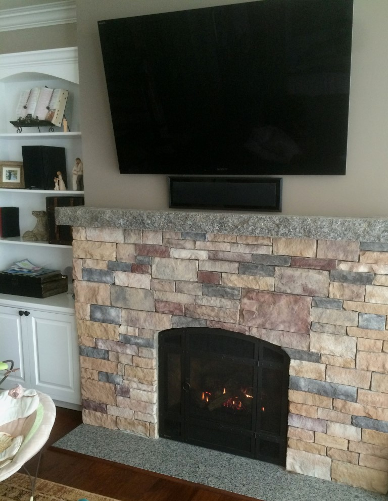 Granville Stone Hearth Gas Fireplace Maine Veneer