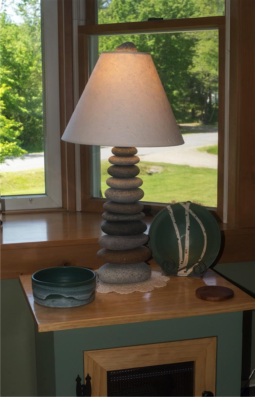 Granville Stone Hearth Maine Lamp Funky Rock