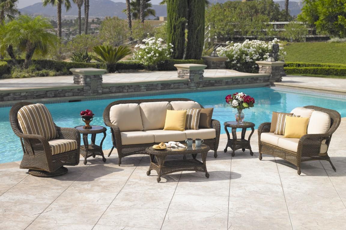 Granville Stone Patio Wicker Furniture Wyndham Granville